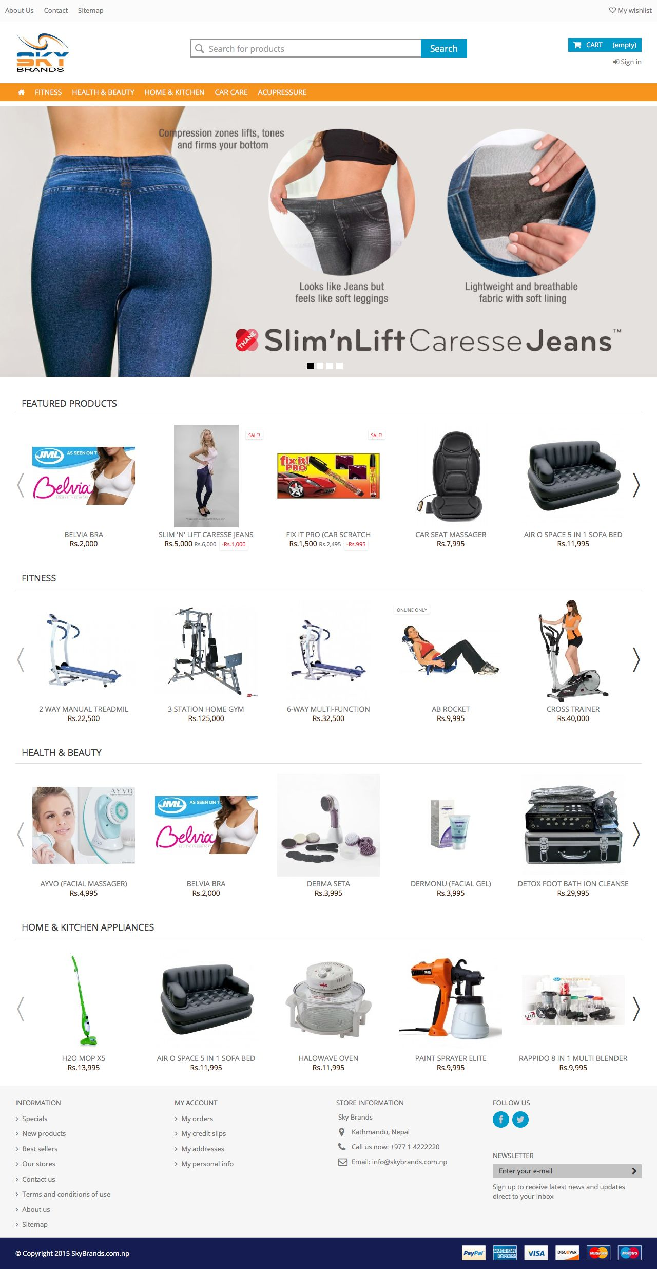 Online shopping nepal website